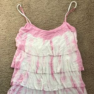 Layered tie dye tank from VS PINK